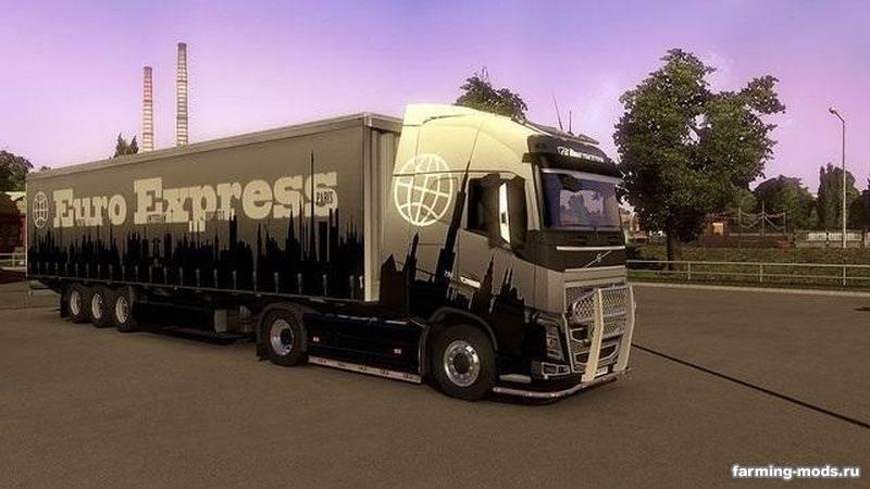 Мод euro express skin pack v 1 0 для euro truck simulator 2