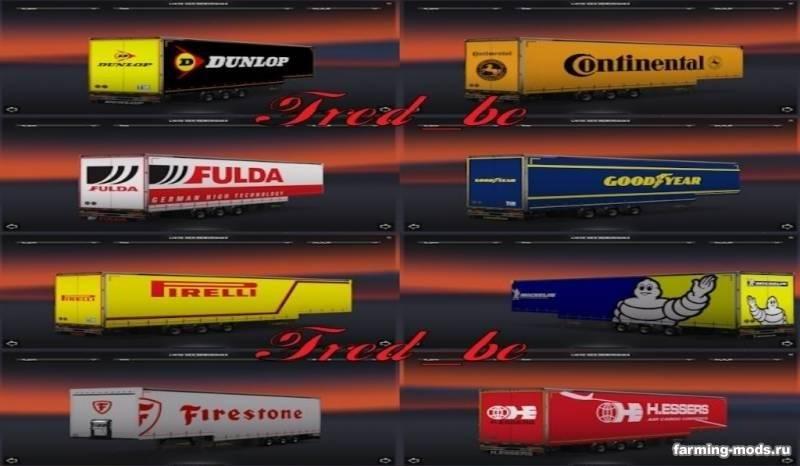 Мод jumbo trailer pack v2 0 для euro truck simulator 2