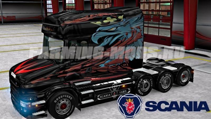 Scania t longline vabis skin v2 0 для euro truck simulator 2