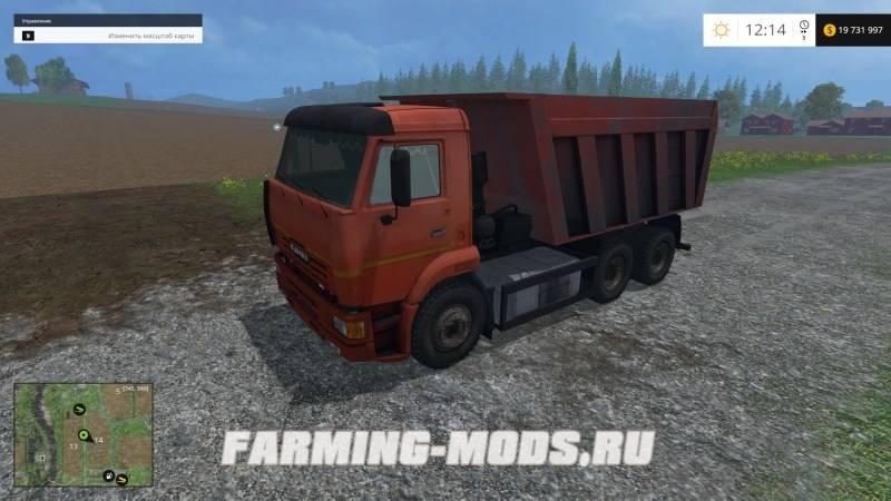 скачать моды для farming simulator 2015 камаз для песка