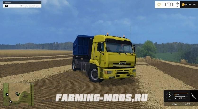 скачать мод для Farming Simulator 2015 камаз 5460 - фото 6