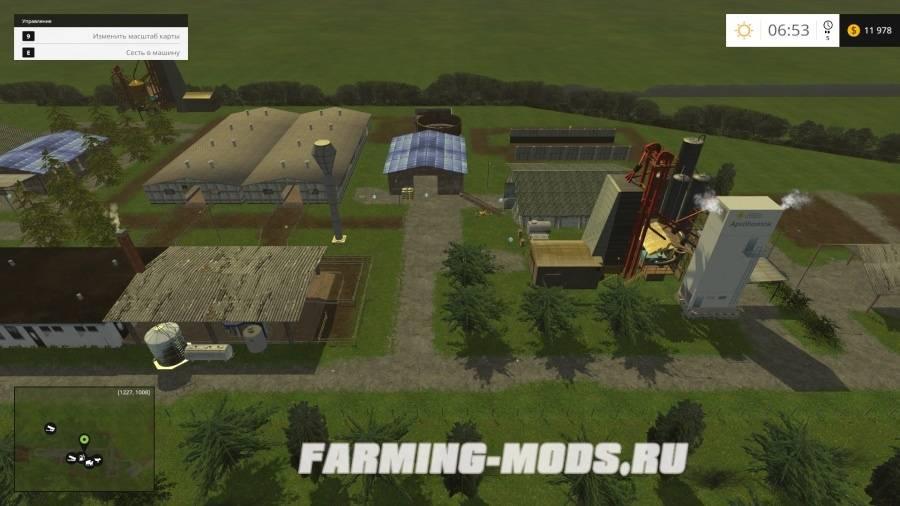 "Мод ""Hungarian TSZ Map v 3.0"" для Farming Simulator 2015"