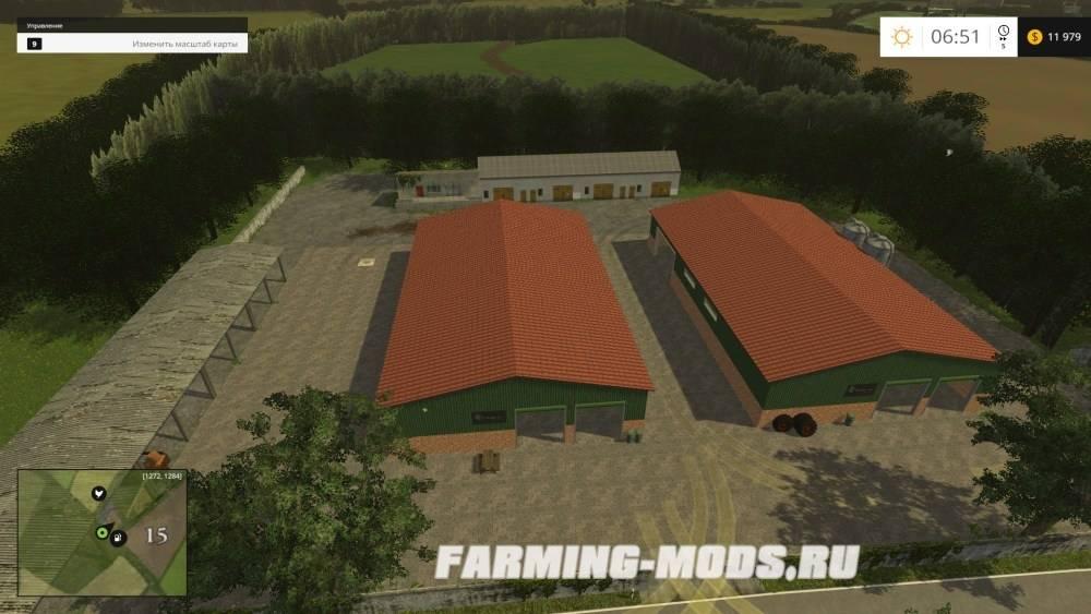 "Мод ""Agragrland Brandenburg Map v0.9"" для Farming Simulator 2015"
