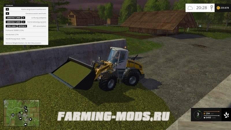 "Мод ""Fahrsilo Extension v2.0"" для Farming Simulator 2015"