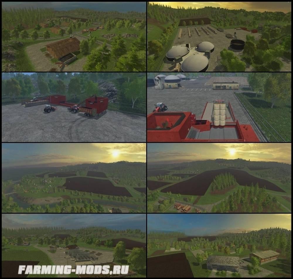 "Мод ""Stroholm Map v2.0"" для Farming Simulator 2015"