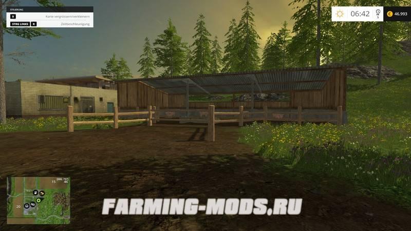 "Мод ""Bergbjornhof v1.2"" для Farming Simulator 2015"