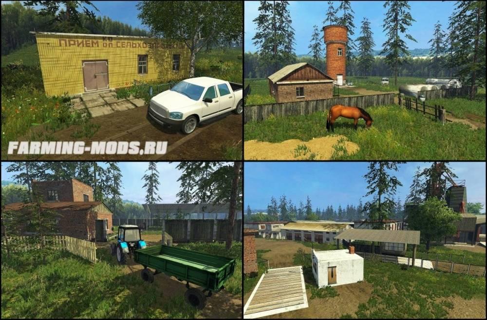 "Мод ""Село Курай v2.1"" для Farming Simulator 2015"