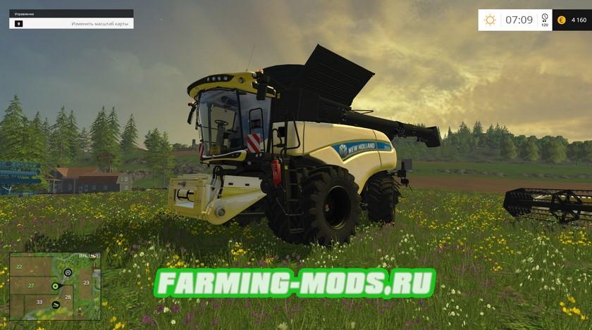 Мод комбайнов NEW HOLLAND CR10.90 TT & CR10.90 DUAL WHEELS для Farming Simulator 2015
