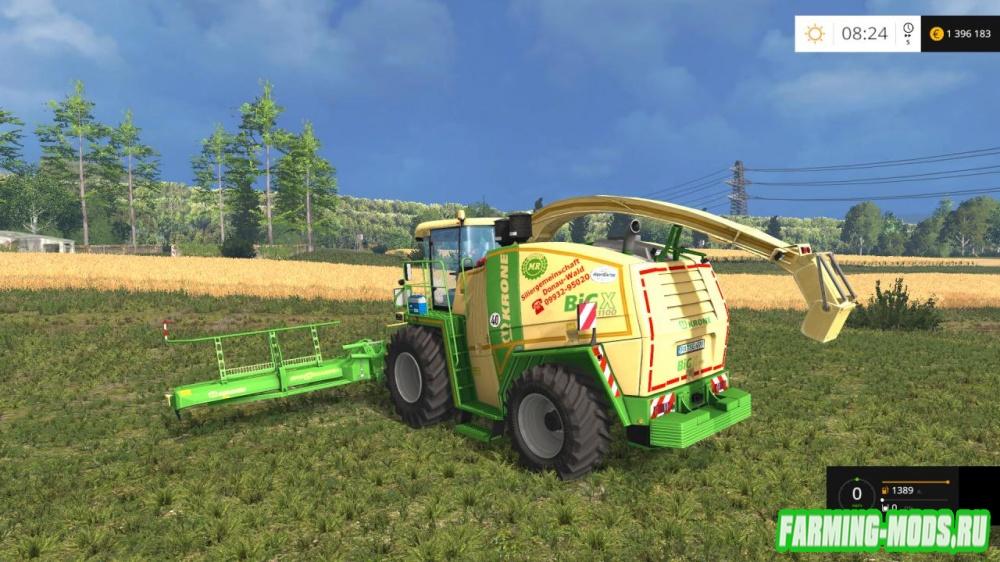 "Мод ""Krone Big X 1100 Mouse control"" для Farming Simulator 2015"