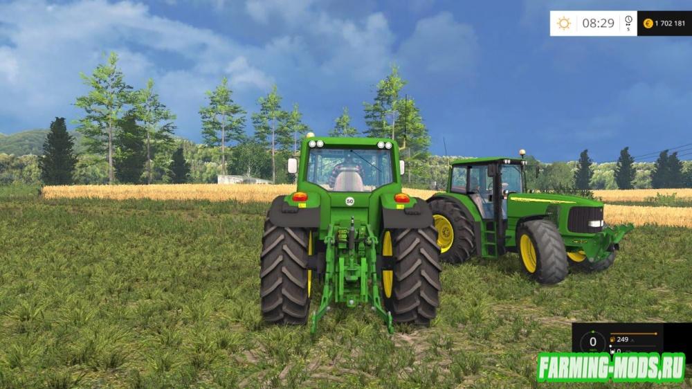 "Мод ""John Deere 6290S v2.0"" для Farming Simulator 2015"
