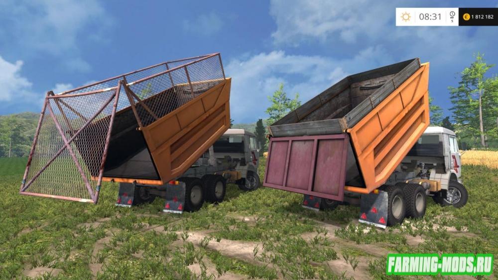 "Мод ""КамАЗ 55111"" для Farming Simulator 2015"