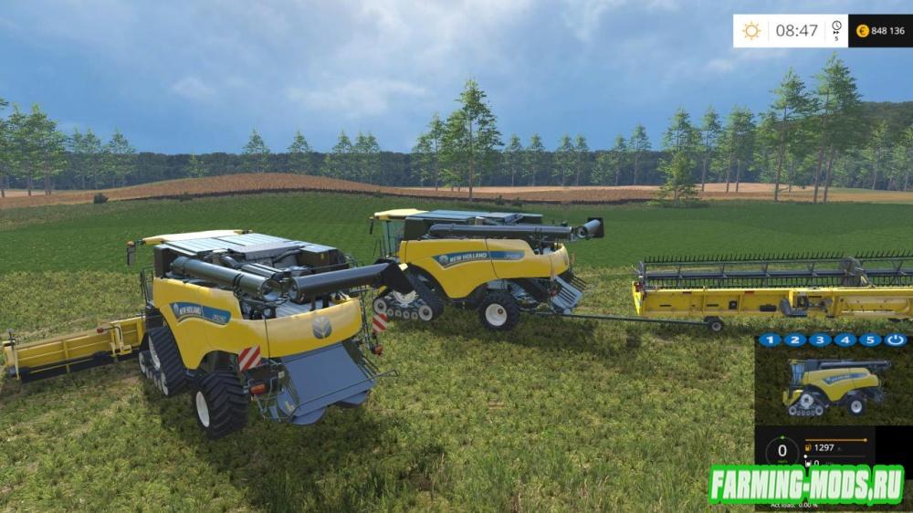 "Мод ""New Holland CR10.90 Monitored V2.0"" для Farming Simulator 2015"