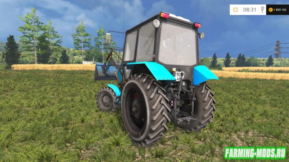 "Мод ""МТЗ-82.1 Беларус ПКУ v2"" для Farming Simulator 2015"