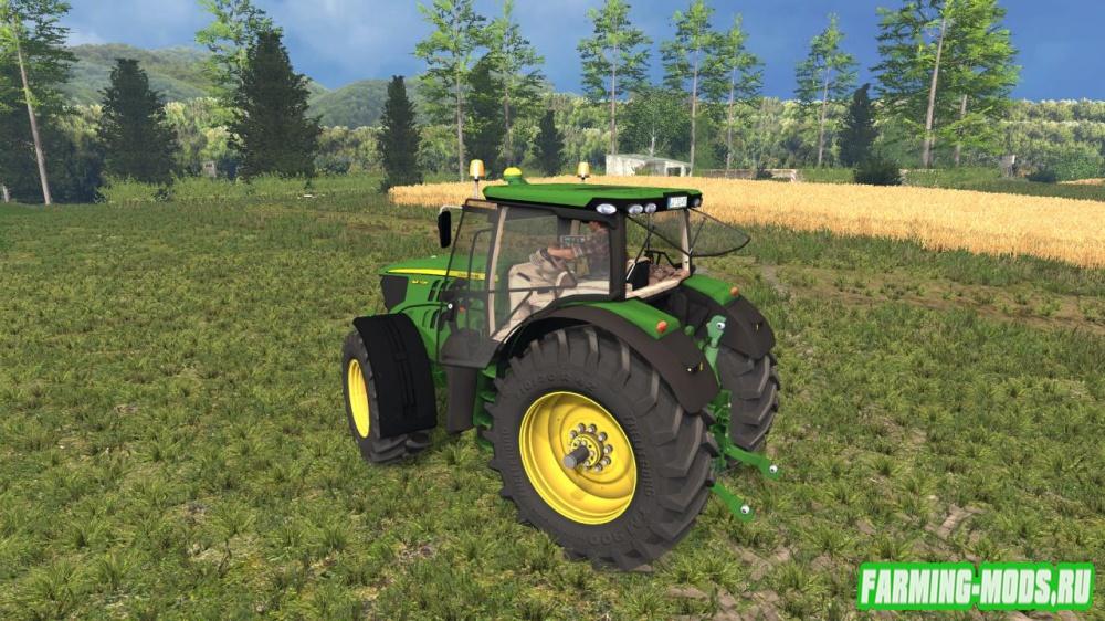 "Мод ""John Deere 6210R v1.0"" для Farming Simulator 2015"