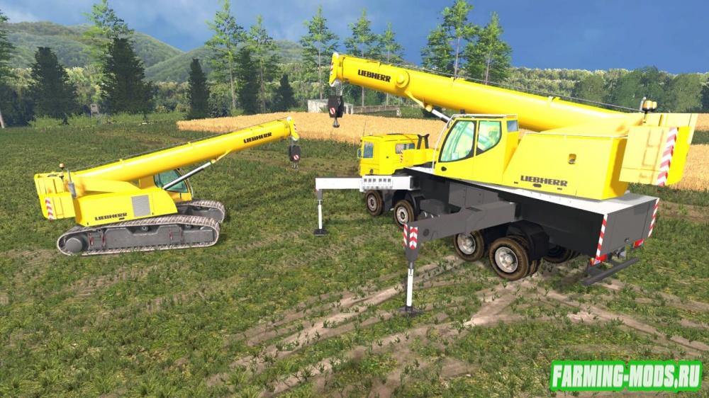 "Мод ""Scania Liebherr LTF1060 + Liebherr crawler LTR1060"" для Farming Simulator 2015"