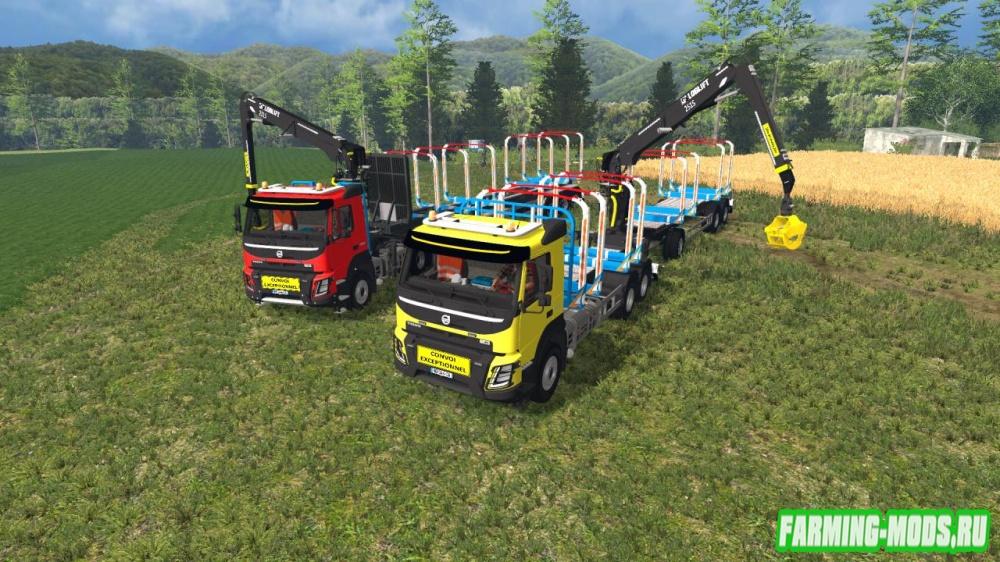 "Мод ""Volvo FMX Grumier v 1.0"" для Farming Simulator 2015"