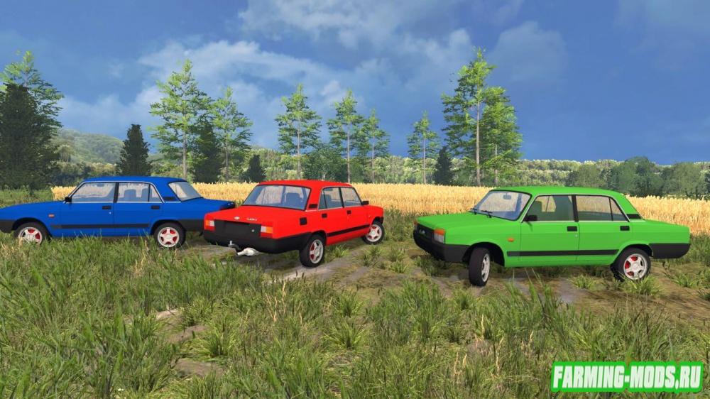 "Мод ""Ваз 2107 М"" для Farming Simulator 2015"