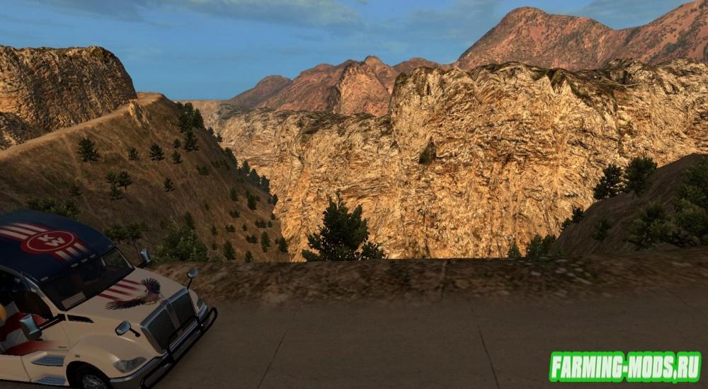 "Мод ""ATS map Nevada v1"" для American Truck Simulator"