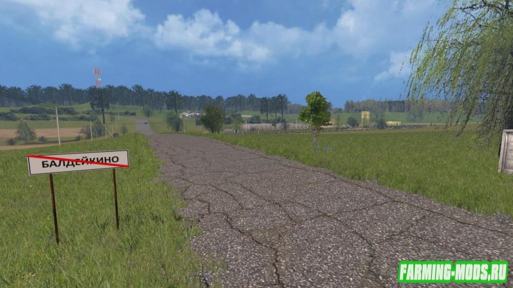 "Мод ""Карта Балдейкино New"" для Farming Simulator 2015"