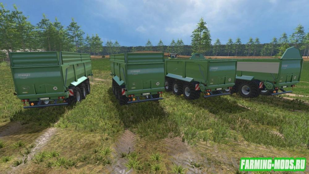 "Мод ""Krampe Bandit 980 Green v 1.0"" для Farming Simulator 2015"
