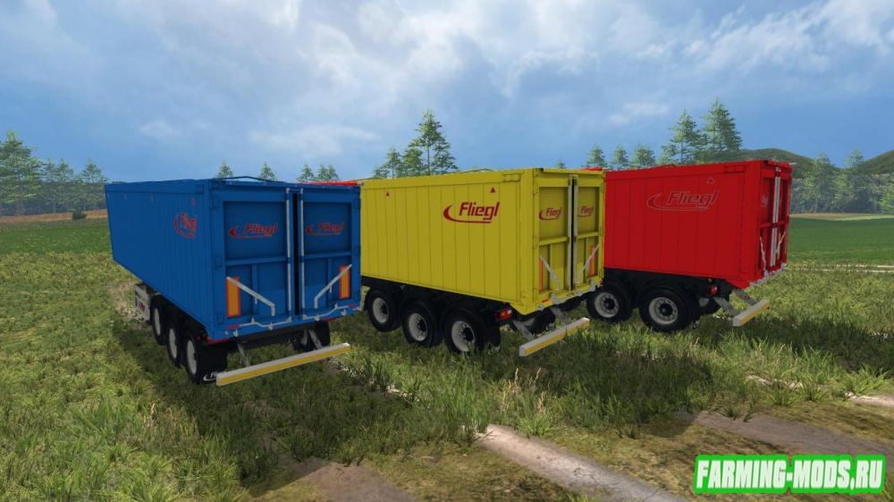 "Мод ""Fliegl GreenLine Series Dump v1.0"" для Farming Simulator 2015"