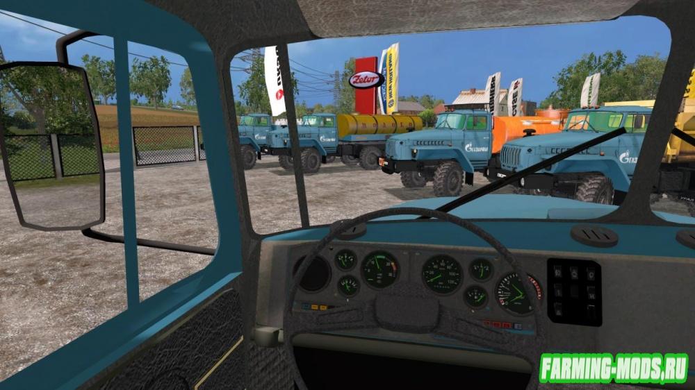 """Мод """"Урал 4320 Пак (Газпром)"""" для Farming Simulator 2015"""