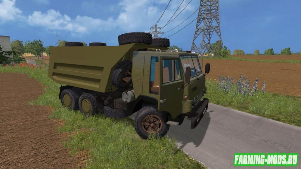 "Мод ""КамАЗ 54102 Совок + прицеп"" для Farming Simulator 2015"