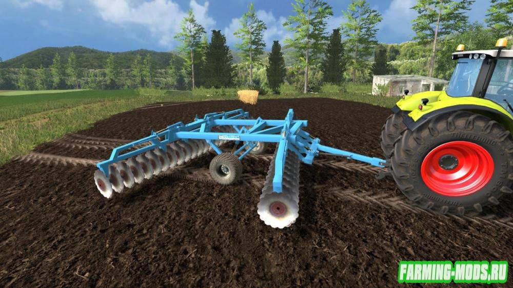 "Мод ""Lemken disc harrow v1.0"" для Farming Simulator 2015"