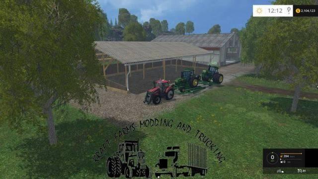 "Мод ""Large John Deere Stackmover v 1.0"" для Farming Simulator 2015"