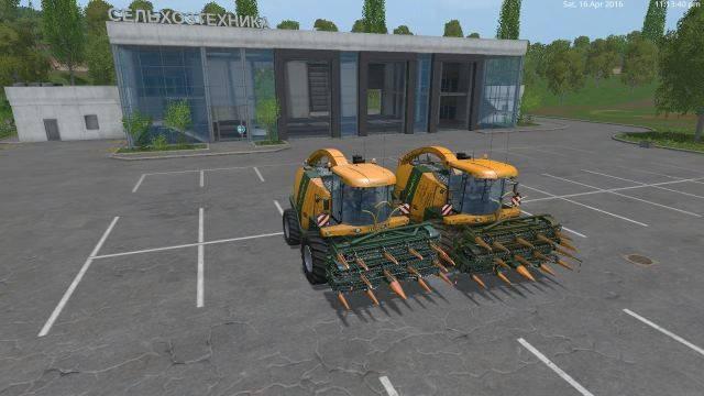"Мод ""Krone bigx1100 and Krone collect 1053 v 2.0"" для Farming Simulator 2015"