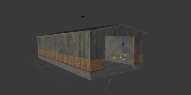"Мод ""Transit hall with bay v 1.0 Placeable"" для Farming Simulator 2015"