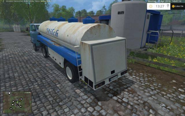 "Мод ""GDR Milk Semitrailer v 1.0"" для Farming Simulator 2015"