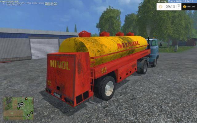 "Мод ""GDR Minol Semitrailer v 1.0"" для Farming Simulator 2015"