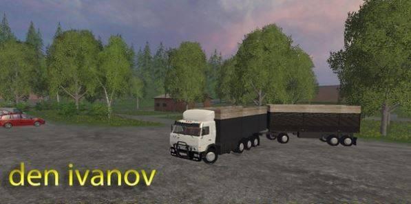 "Мод ""Камаз + Прицеп"" для Farming Simulator 2015"