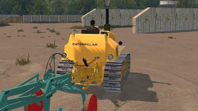 "Мод ""Caterpillar D4E v 1.1"" для Farming Simulator 2015"