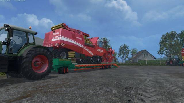 "Мод ""Aguas Tenias Low Loader Fifth Wheel v 1.0"" для Farming Simulator 2015"