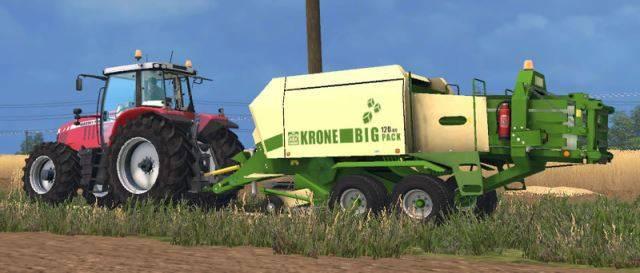 "Мод ""John Deere 690 & Krone BigPack 120-80 v 1.0"" для Farming Simulator 2015"