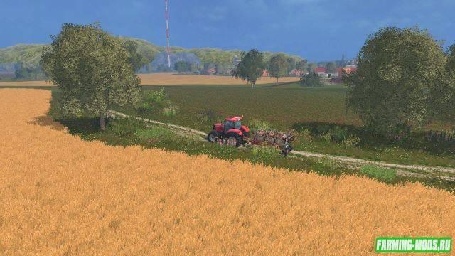 "Мод ""Карта Agro Farma 2015 CZ v 2.0 RUS"" для Farming Simulator 2015"