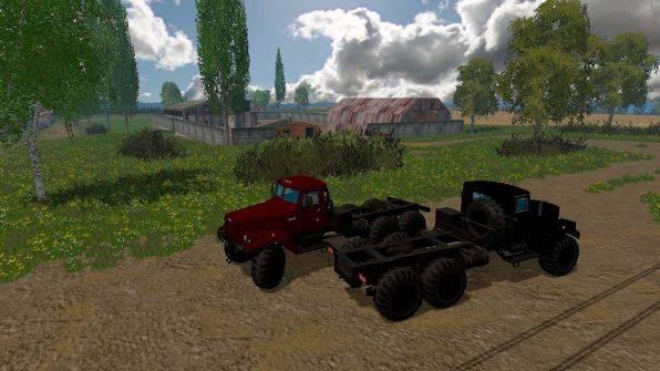 "Мод ""КрАЗ 255 Б1 Matte v 1.2.1 Multicolor"" для Farming Simulator 2015"