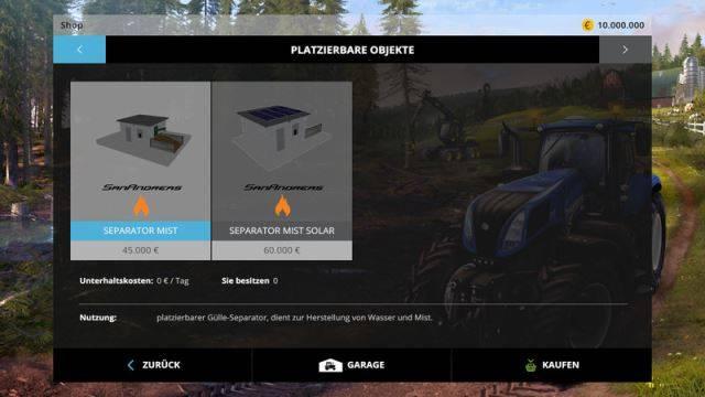 "Мод ""Slurry Separator v 1.0 Placeable"" для Farming Simulator 2015"