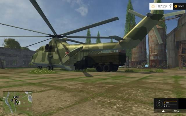 "Мод ""Helicopters v 1.0"" для Farming Simulator 2015"