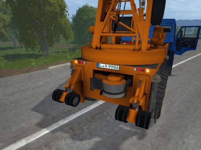 "Мод ""Камаз кран v 2.2"" для Farming Simulator 2015"