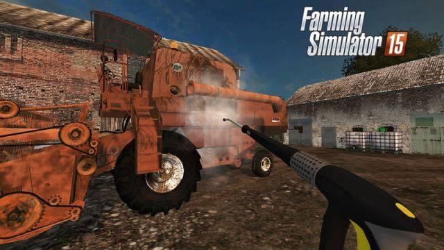 "Мод ""Bizon ZO56 Red with cabine v 2.0"" для Farming Simulator 2015"