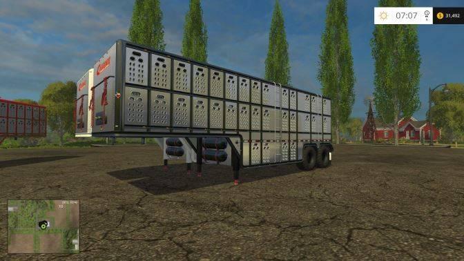"Мод ""Cimarron Livestock Trailer v 0.9b"" для Farming Simulator 2015"
