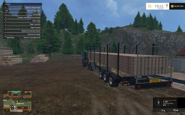"Мод ""Fliegl Universal Semitrailer autoload v 1.5"" для Farming Simulator 2015"