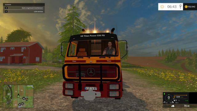 """Мод """"Mercedes Benz 1632 Titan Heavy Duty 4 axle v 0.1 """" для Farming Simulator 2015"""