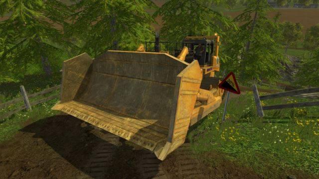 "Мод ""Komatsu 575 A v 2.0"" для Farming Simulator 2015"
