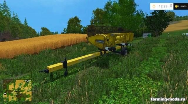 "Мод ""Bruns Combine Header Trailer v 1.0"" для Farming Simulator 2015"