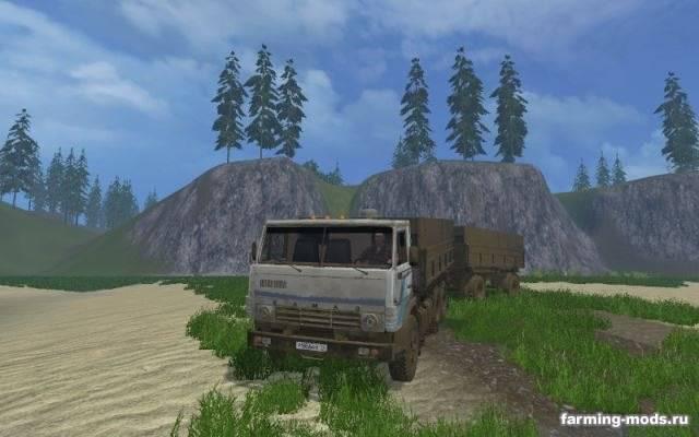 "Мод ""Камаз 5320 & Нефаз 8960 v 3.0"" для Farming Simulator 2015"