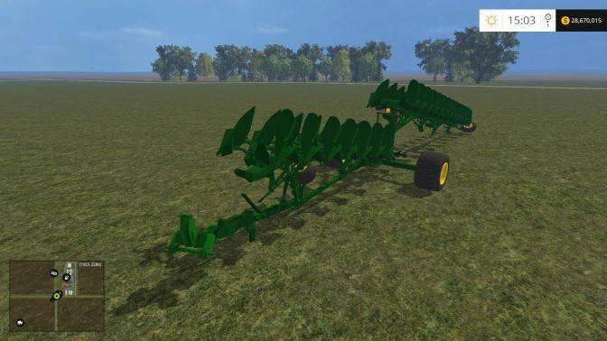 "Мод ""John Deere TITAN20 PLOW v 1.0"" для Farming Simulator 2015"